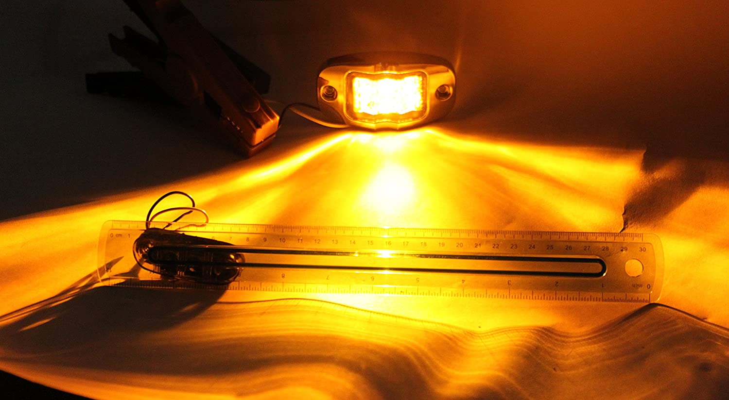 Truck Trailer 20 Amber LED Mid-turn Side Marker Clearance Lights Extra Bright with Chrome Bezel RV