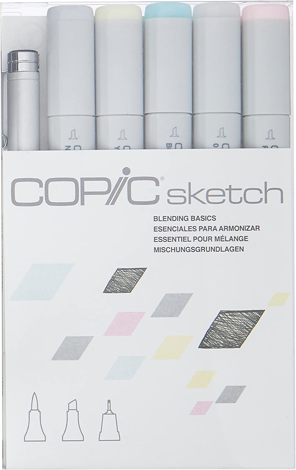 Copic Markers 6-Piece Sketch Set, Blending Basics