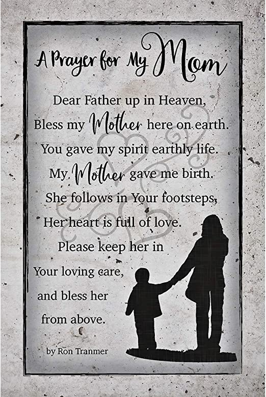 Amazon Com Prayer For My Mom Wood Plaque With Inspiring Quotes 6