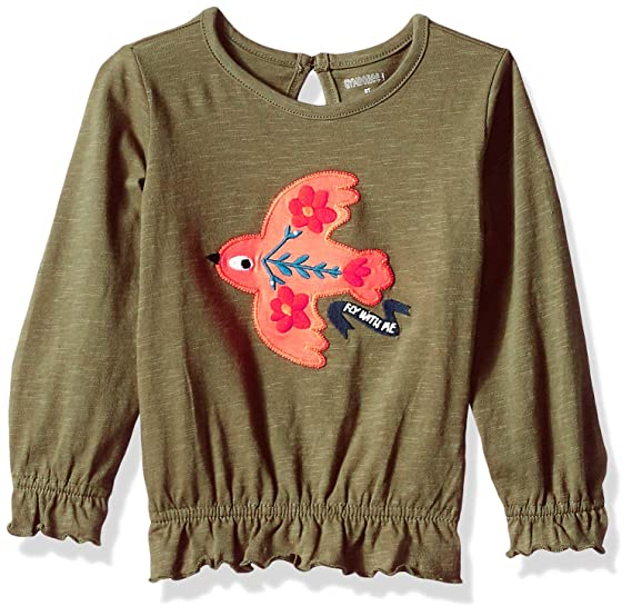 38b5a688 Gymboree Girls' Big Long Sleeve High Low Graphic Tee: Amazon.in: Clothing &  Accessories