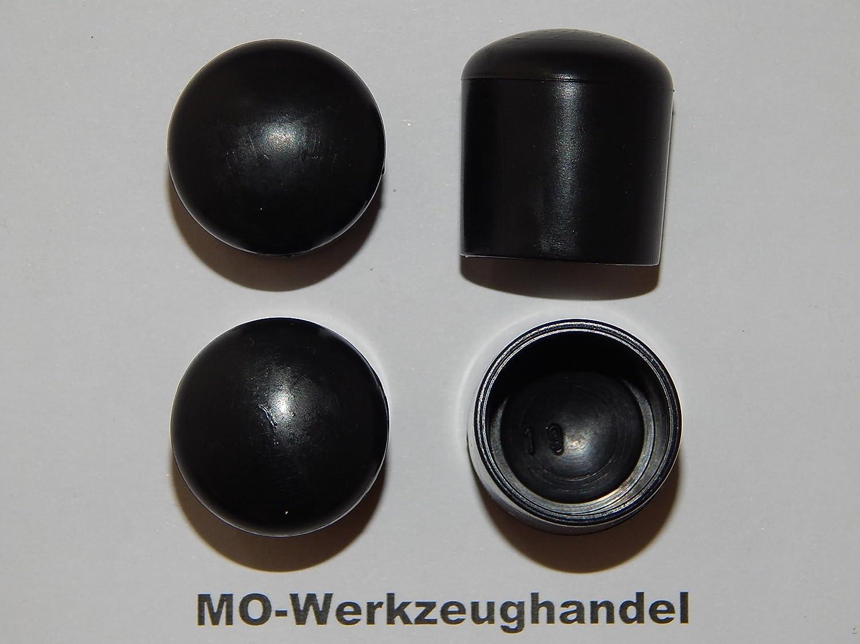 16 St/ück Stuhlbeinkappen Innendurchmesser: 19 mm Rohrkappen Rund Gleitkappe zum Aufstecken aus Kunststoff Farbe: Schwarz