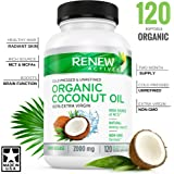 DOUBLE STRENGTH 2000mg! Organic Coconut Oil Capsules for Hair Growth, Radiant Skin & Natural Weight Loss - Non-GMO, Unrefined Cold Pressed Coconut Oil Rich in MCFA and MCT - 2 Month Supply!