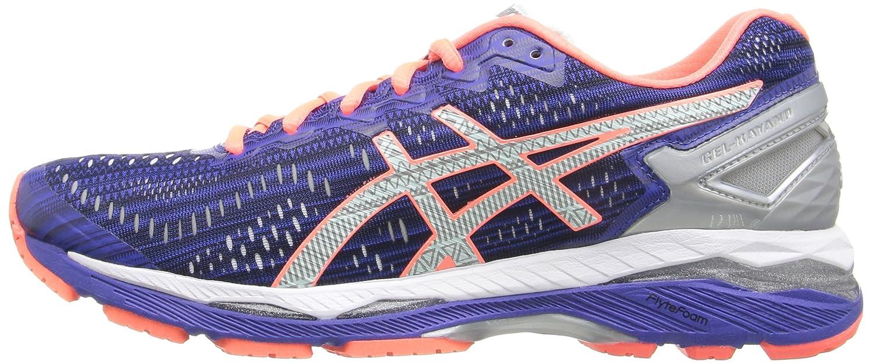 ASICS Women's Gel-Kayano 23 Lite-Show Running Shoe B017USMPIO 12 B(M) US|Asics Blue/Silver/Flash Coral