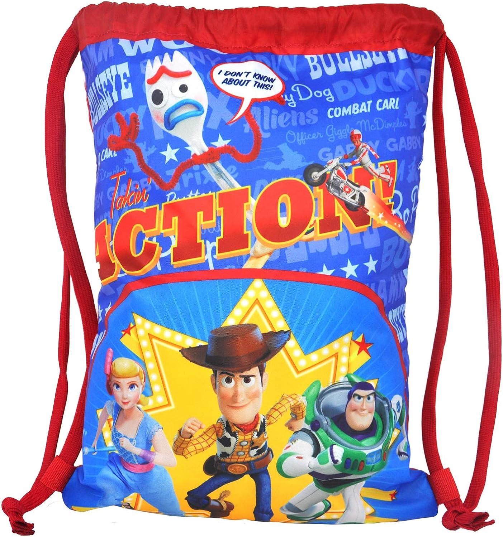 "Disney Toy Story 4 Tote 15"" Sling Bag Woody Buzz Bo Peep Forky Print"
