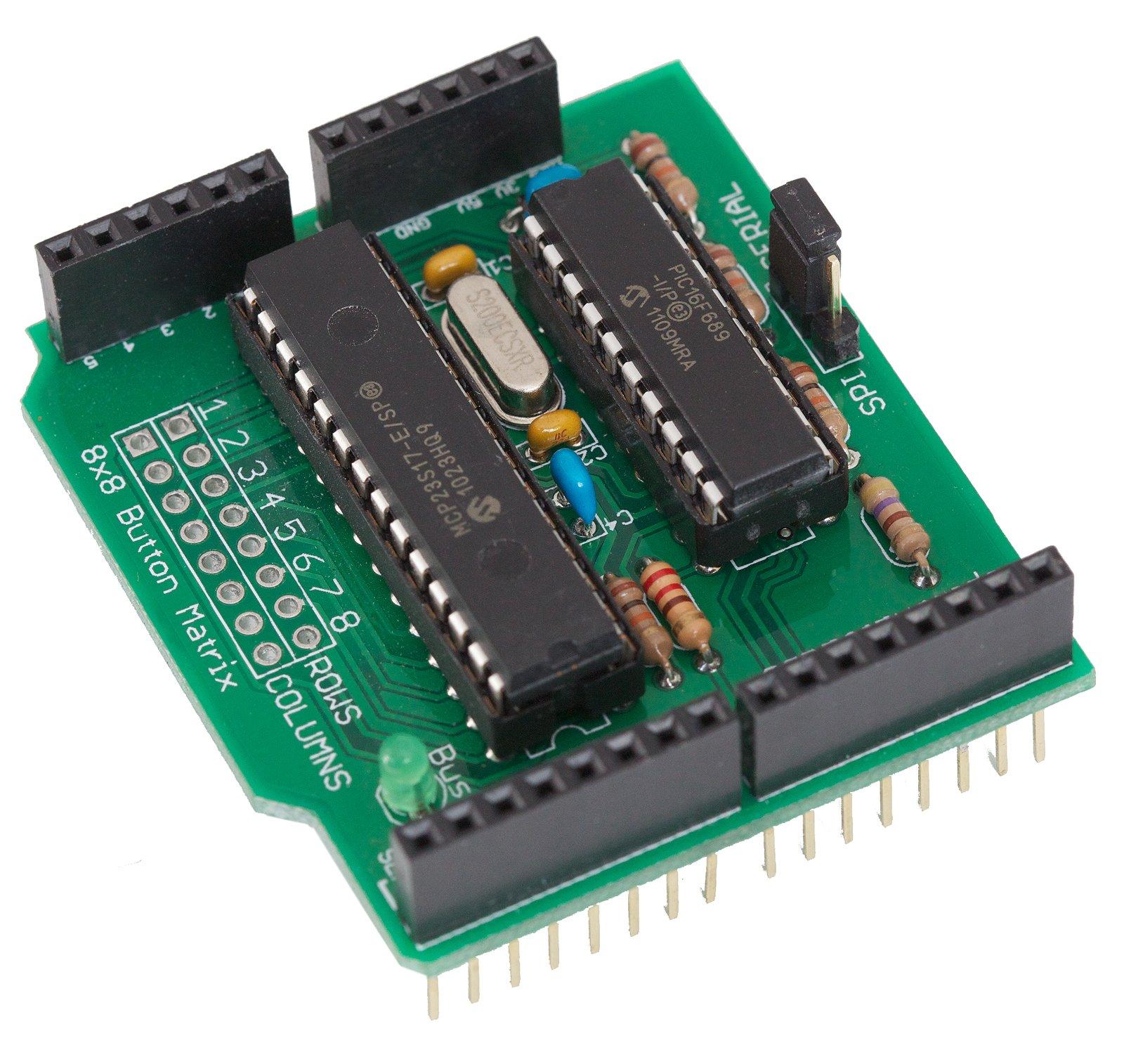 SpikenzieLabs 64 Button Shield for Arduino