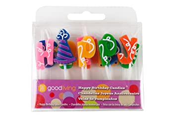 good living birthday letter candles