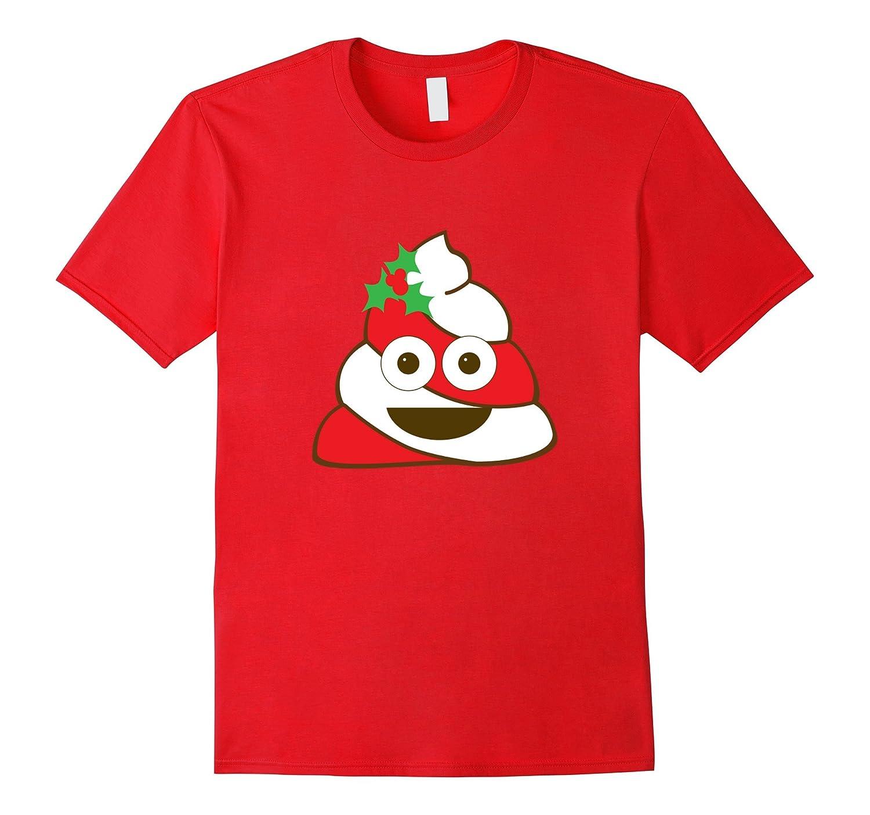 Christmas Poopermint Emoji Shirt, Funny Poop Emoticon Gift-T-Shirt