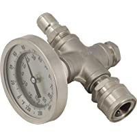 Inline Thermometer with Stainless Quick Disconnects