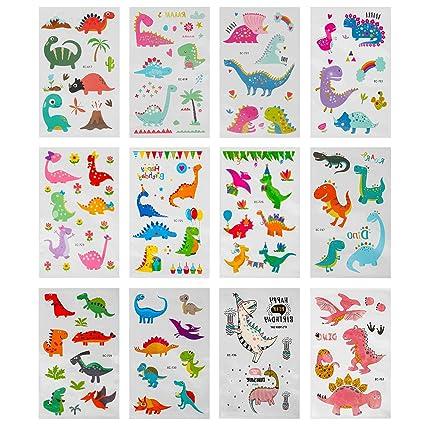 Jamber Tatuajes Temporales para Niños, (12 Hojas) Unicornio ...