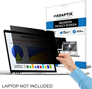 "Adaptix MacBook Compatible – 11"" Privacy Screen for MacBook Air – Anti-Glare, Anti-Scratch, Blocks 96% UV – Blue Light Screen Filter Protector [Late 2010 - Early 2015] (APFMA11)"