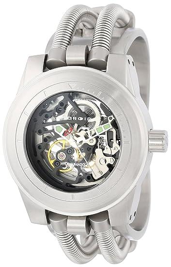 Android AD520BK - Reloj de Pulsera Hombre, Acero Inoxidable, Color Plata