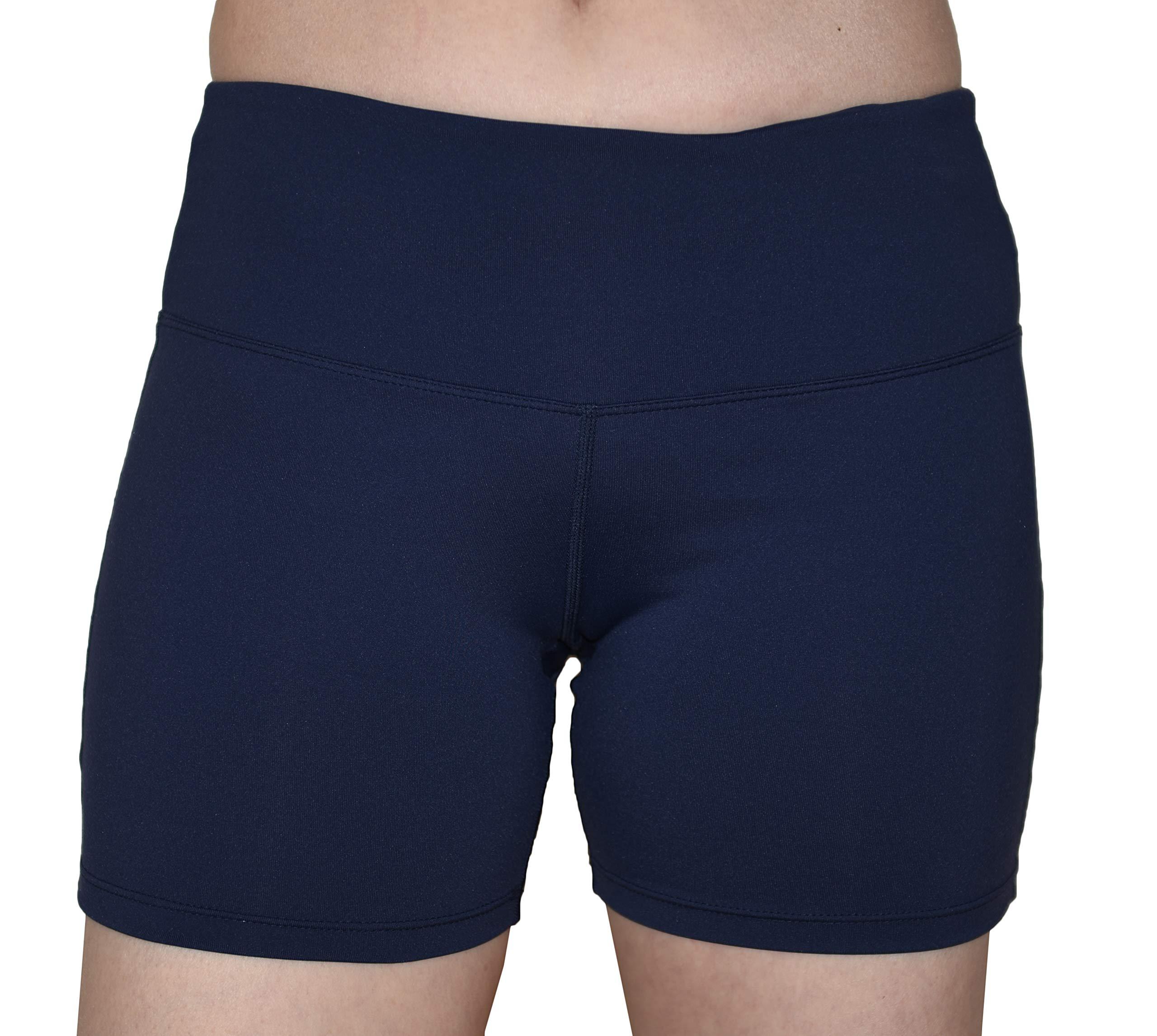 Private Island Women UV Swim Rash Guard Pockets Shorts Pants Yoga (XL, Navy) by Private Island