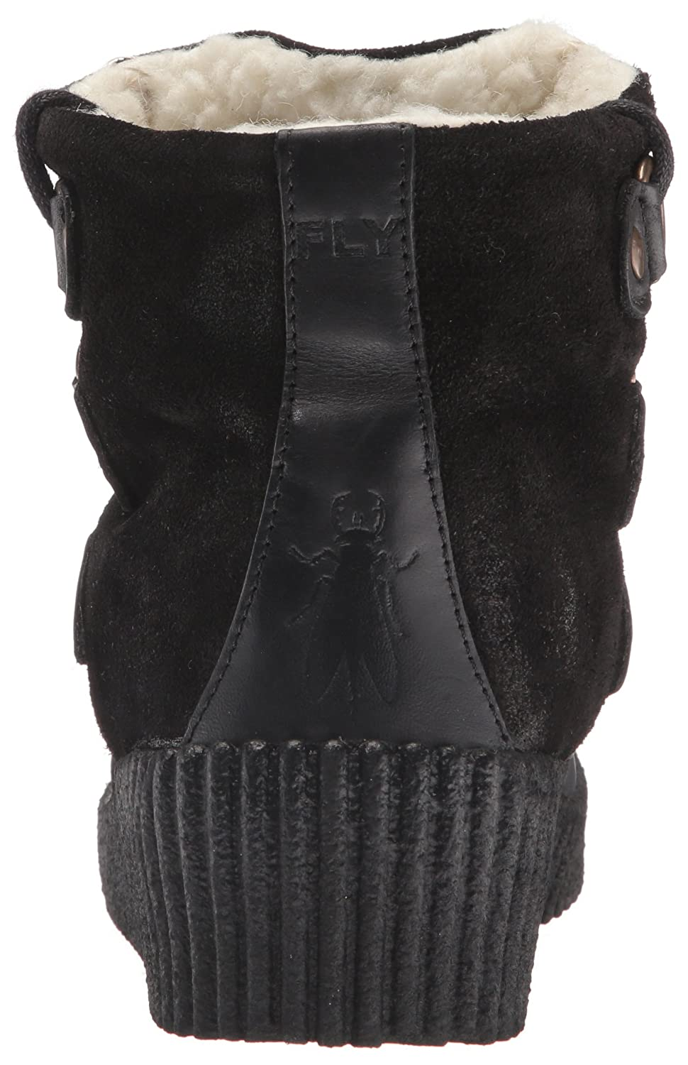 FLY London Women's Abat251fly Snow Boot B01CYL91H0 41 EU/10-10.5 M US|Black/Black Rug/Oil Suede