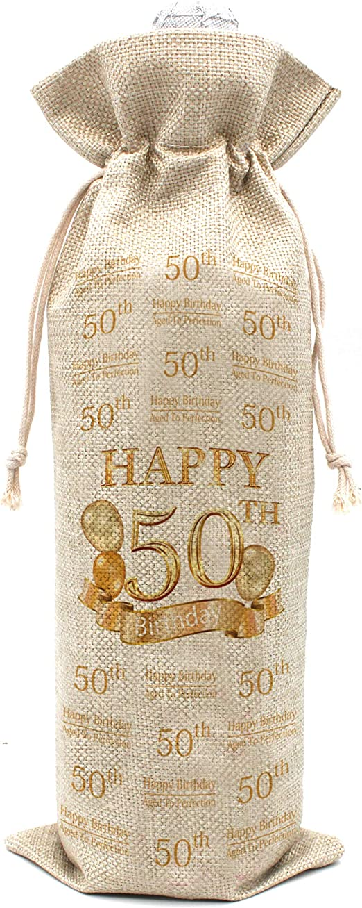 Amazon Com 50th Birthday Gifts For Women And Men Wine Bags