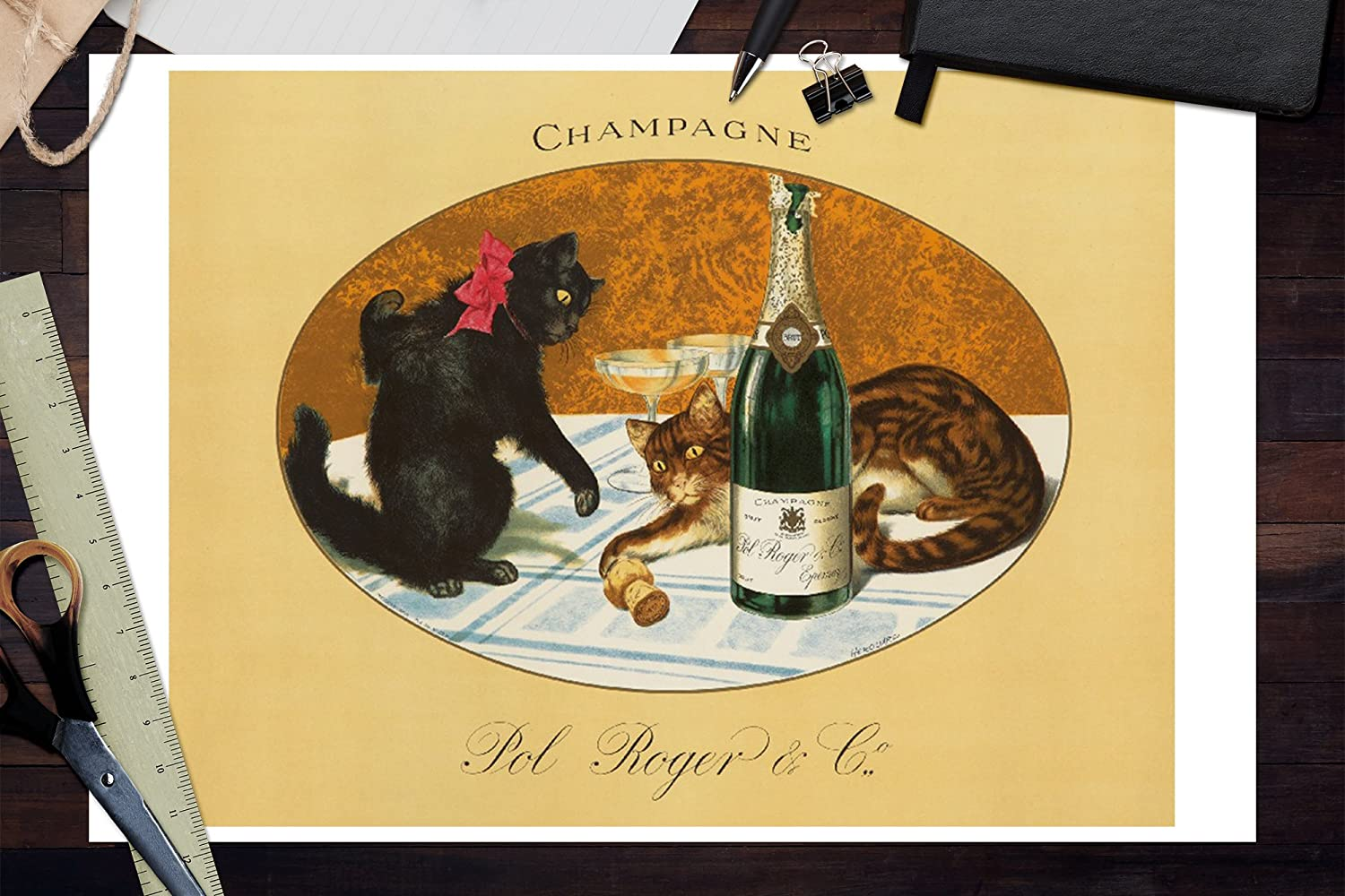 Champagne Art Kitchen Dining Room Print Living Room Print Bar Decor Tattinger