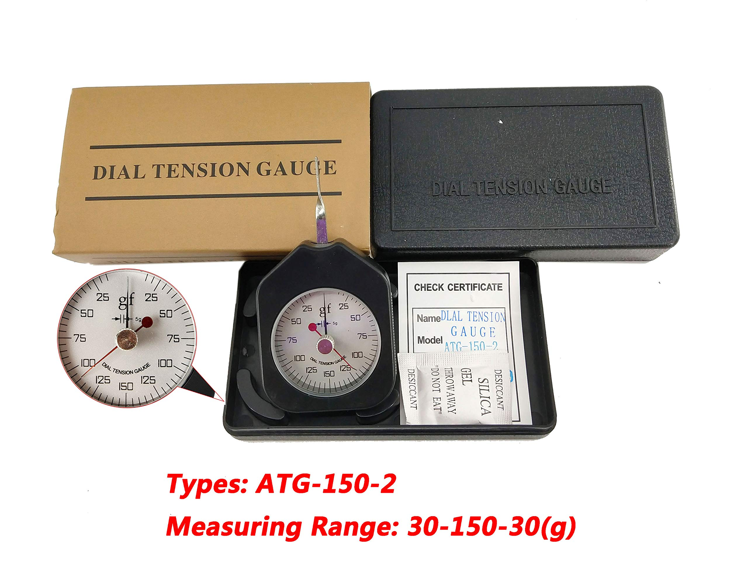 HFBTE ATG-150-2 Pocket Size Double Needle Dial Tension Meter Gauge with 30-150-30g Measuring Range Analog Tensionmeter Tester by HFBTE