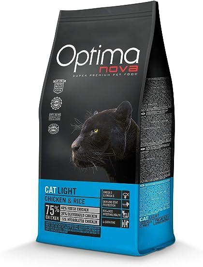 Optima nova Cat Adult Light Chicken & Rice 8000 g: Amazon.es: Productos para mascotas