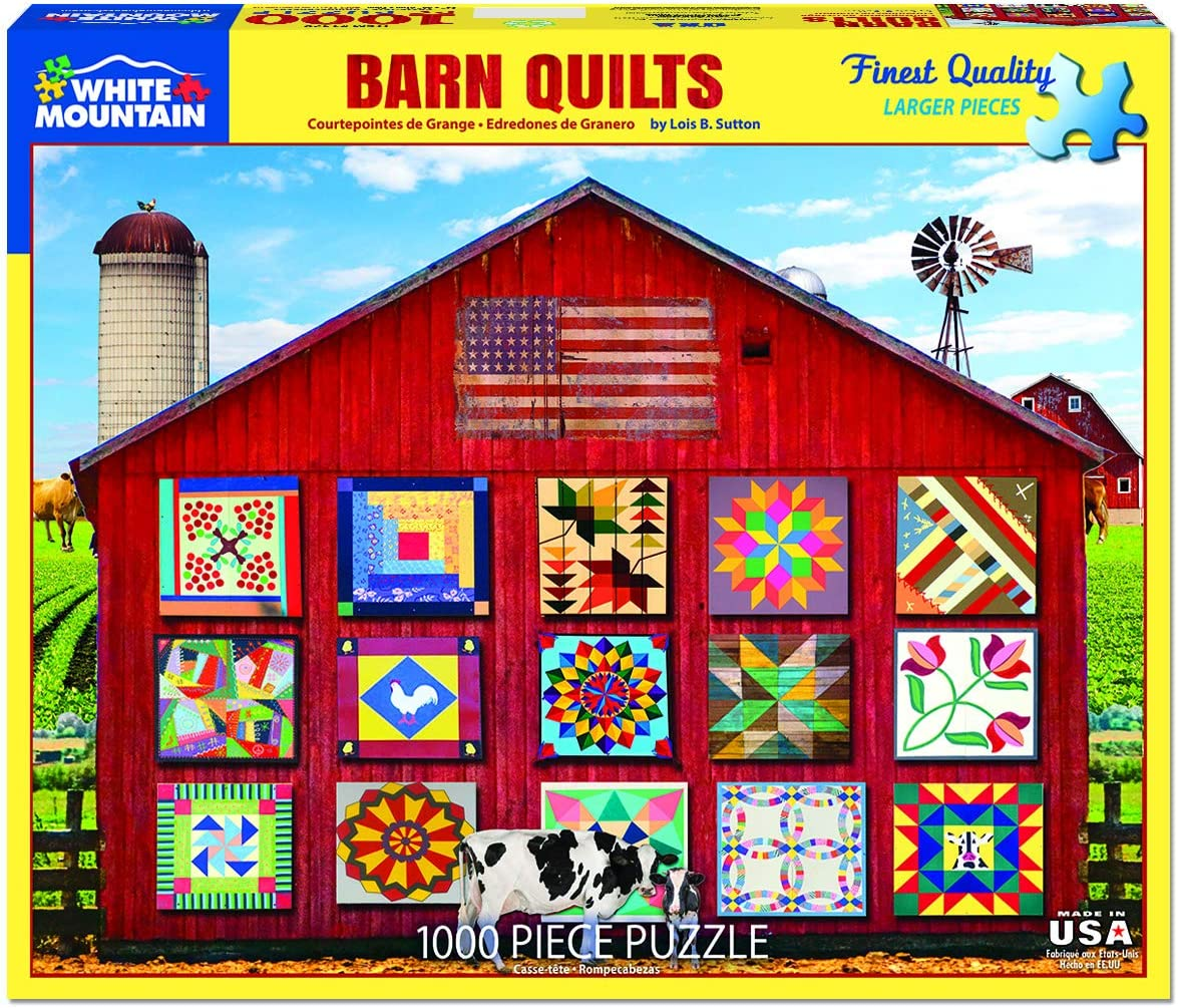 White Mountain Puzzles Barn Quilts - 1000 Piece Jigsaw Puzzle