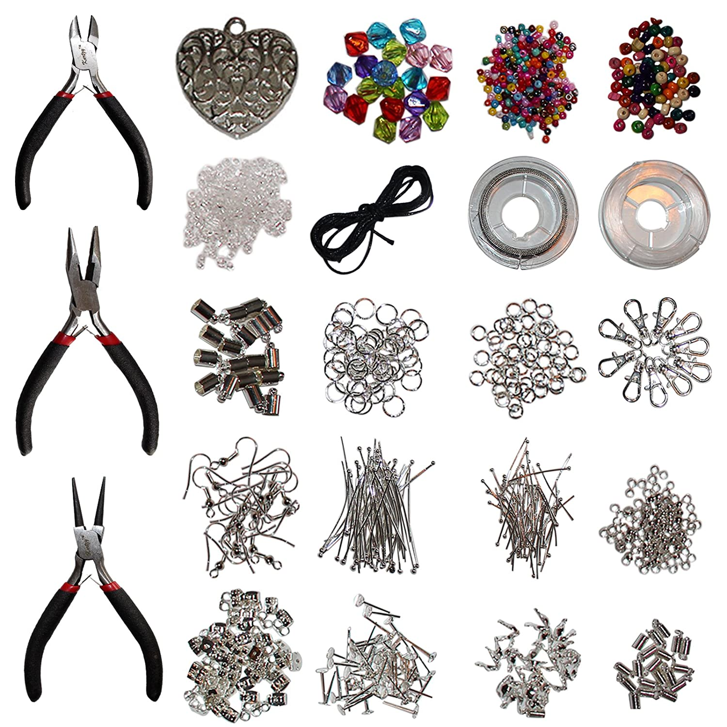 Kurtzy 1000-Piece Jewelry Making Kit