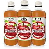 Sinew Nutrition Apple Cider Vinegar with Strands of Mother, 500 ml (Pack of 3)