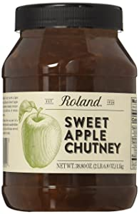 Roland Foods Sweet Apple Chutney, Specialty Imported Food, 38.8-Ounce Jug