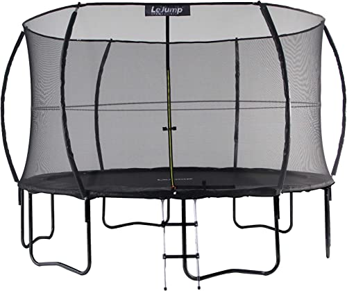 Lejump Pumpkin Trampolines 10ft 12ft for Kids with Safety Pad, Free Ladder, Free Storage Bag, Free Installation Glove