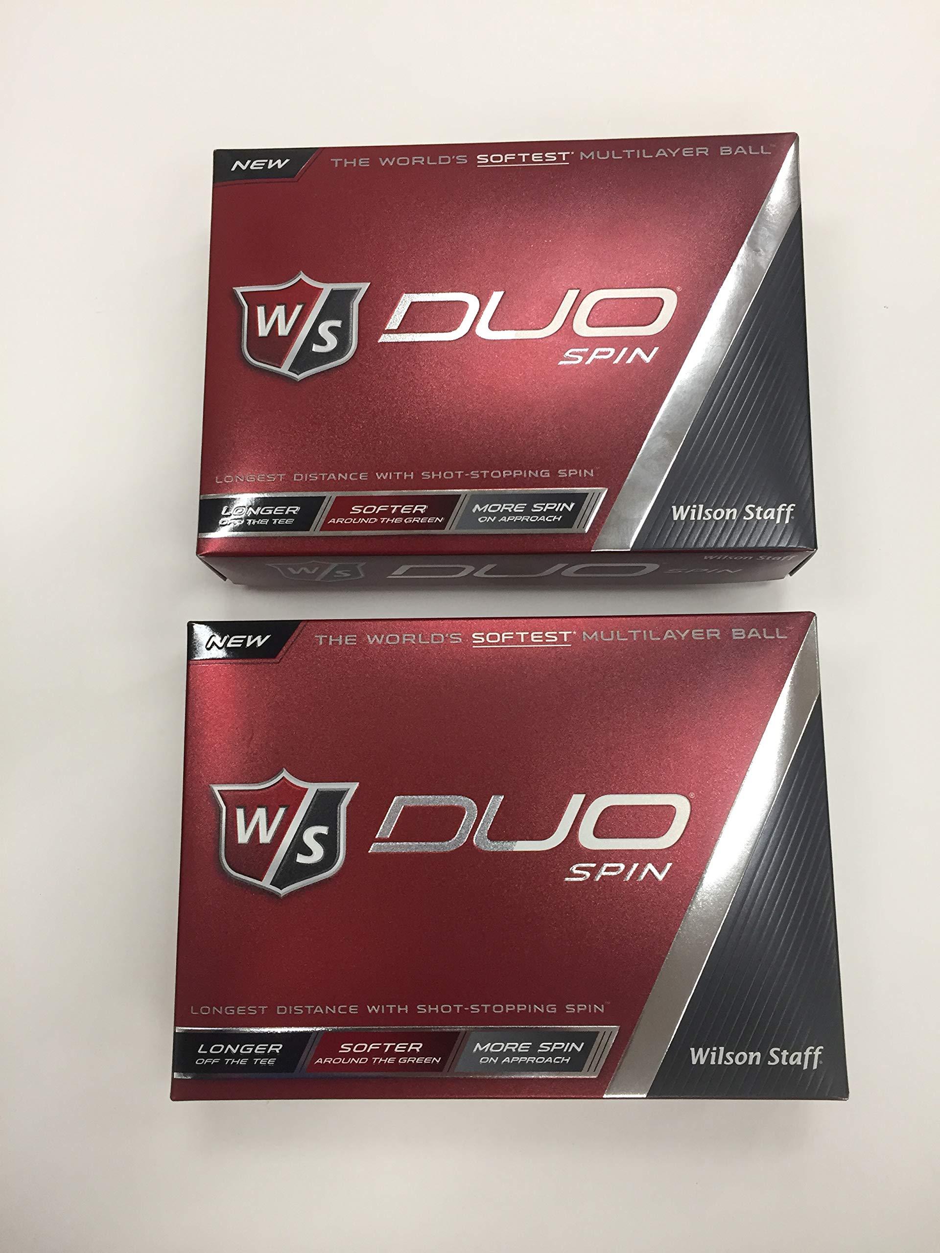 Wilson Staff DUO Spin Golf Balls 24 Balls - White, NEW 2-Dozen by J&M Golf