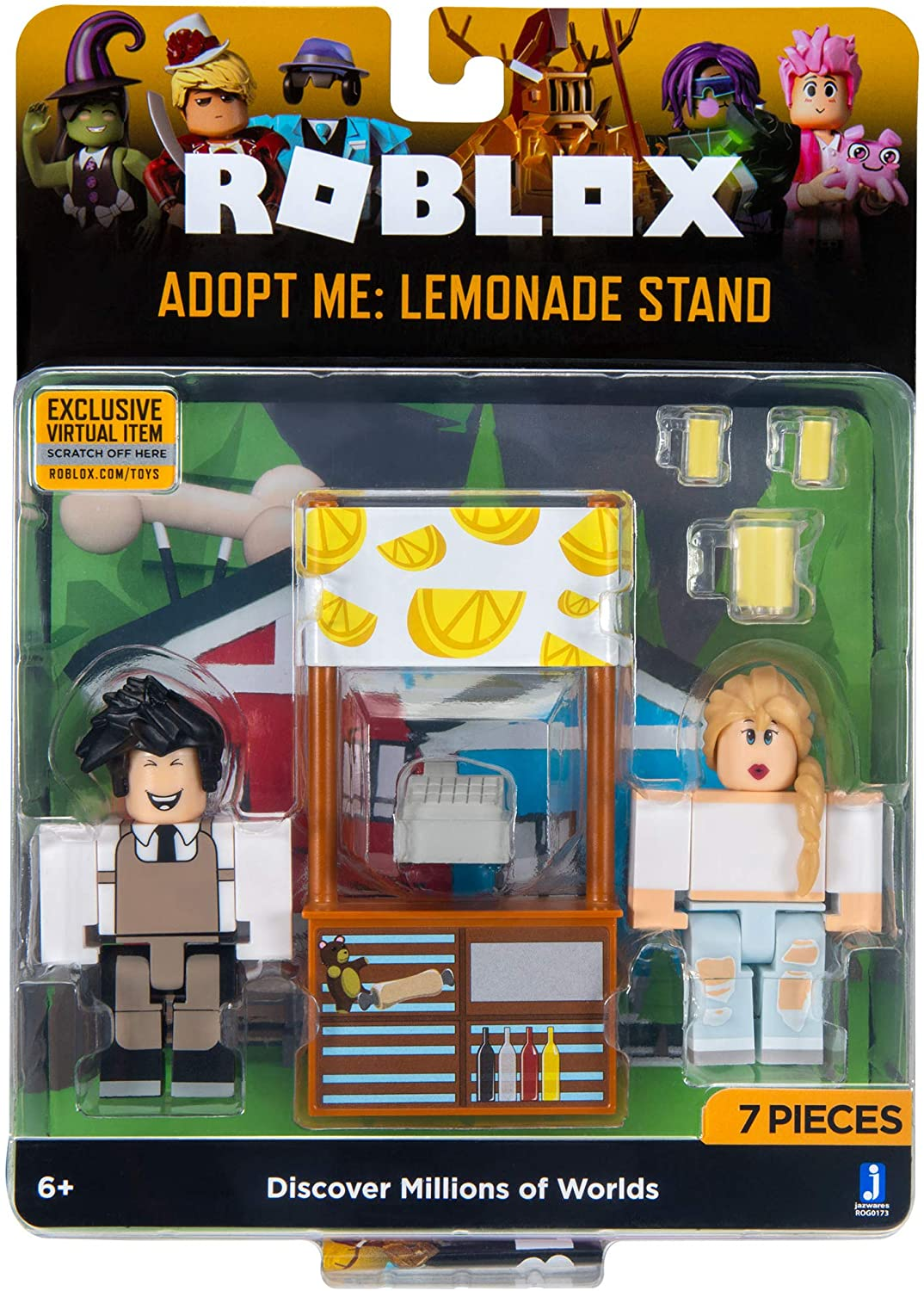 Plush Roblox Adopt Me Toys Amazon Com Roblox Celebrity Collection Adopt Me Lemonade Stand Game Pack Includes Exclusive Virtual Item Toys Games