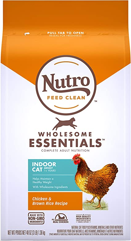 The Nutro Company Nutro Indoor Cat Adult Dry Cat Food, Chicken ...