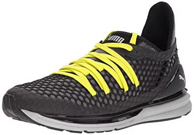 PUMA Men's Ignite Limitless Netfit NC Sneaker, Black-Red Yellow, ...