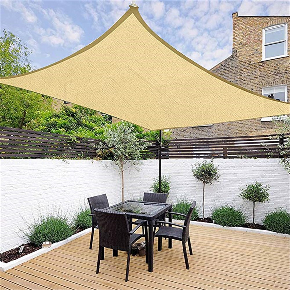 Sun Shade Sail Canopy Rectangle Sand Color,Sun Net Sun Mesh Shade Sunblock Shade Sail UV Resistant Net For Plant Cover For Greenhouse Flowers Patio Lawn Outdoor Facility And Activities,2M/×2M Plants