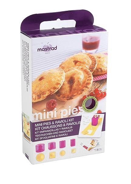 Mastrad F26360 Berry - Kit para empanadas (silicona, polipropileno, ABS y acero inoxidable