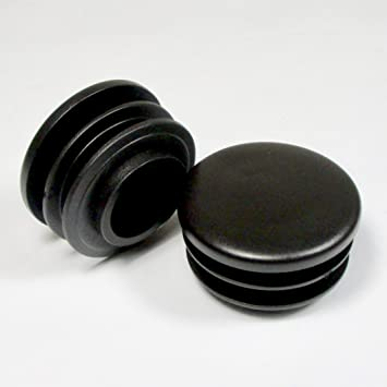 di/ámetro 12 mm ajile Contera redonda acanalada para tubos EPR312-M GRIS 12 piezas