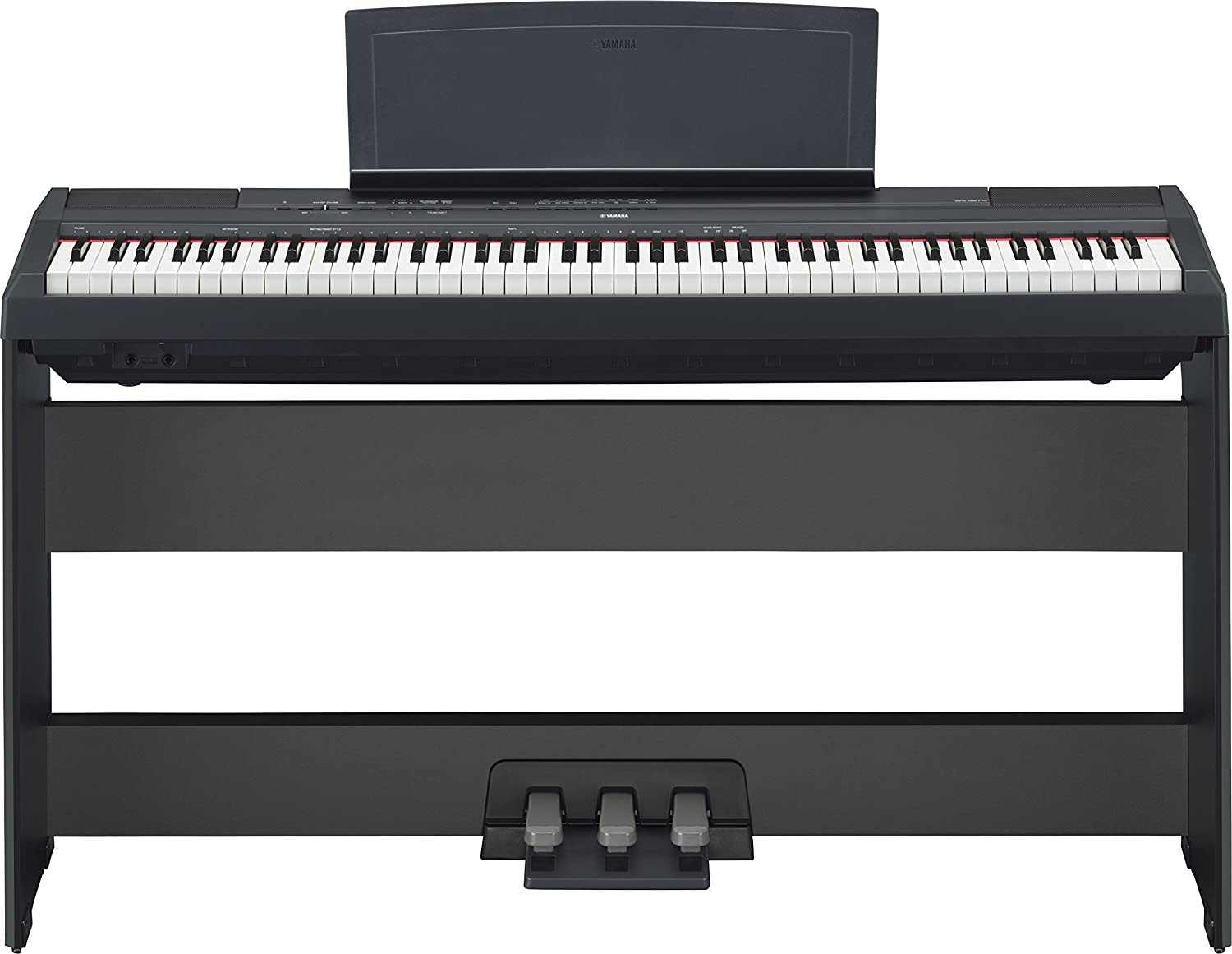Amazon.com: Yamaha P115 88-Key Weighted Action Digital Piano with Sustain  Pedal, Black: Musical Instruments