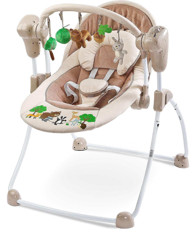 CARETERO Forest Babyschaukel Babywippe Schaukelwippe mit abnehmbarem ...