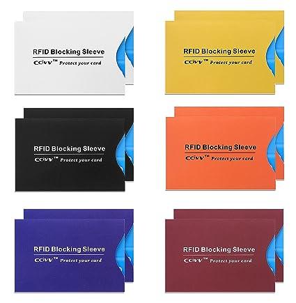 RFID mangas de bloqueo , funda de blindaje de 12 tarjeta de ...