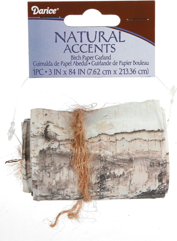 Darice Paper Garland: Birch Design, 3 x 84 inches