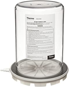 "Nalgene 5305-0609 Polycarbonate Vacuum Chamber Jar with Polypropylene Vacuum Plate, 4.7L Capacity, 6-5/8"" OD x 9-3/8"" Overall Height"