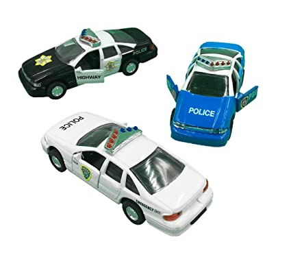 Police Car Die Cast Metal 5 Inch Pull Back Police Cars Open-able  sc 1 st  Amazon.com & Amazon.com: Police Car Die Cast Metal 5 Inch Pull Back Police Cars ...