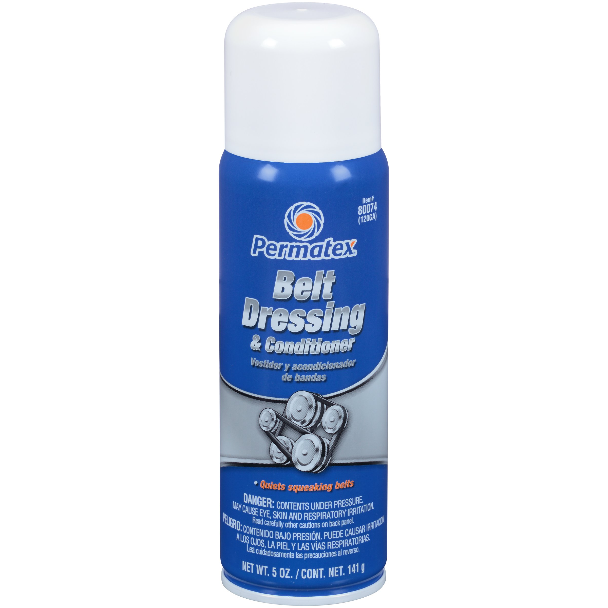 Permatex 80074-12PK Belt Dressing and Conditioner, 5 oz. net Aerosol Can (Pack of 12) by Permatex