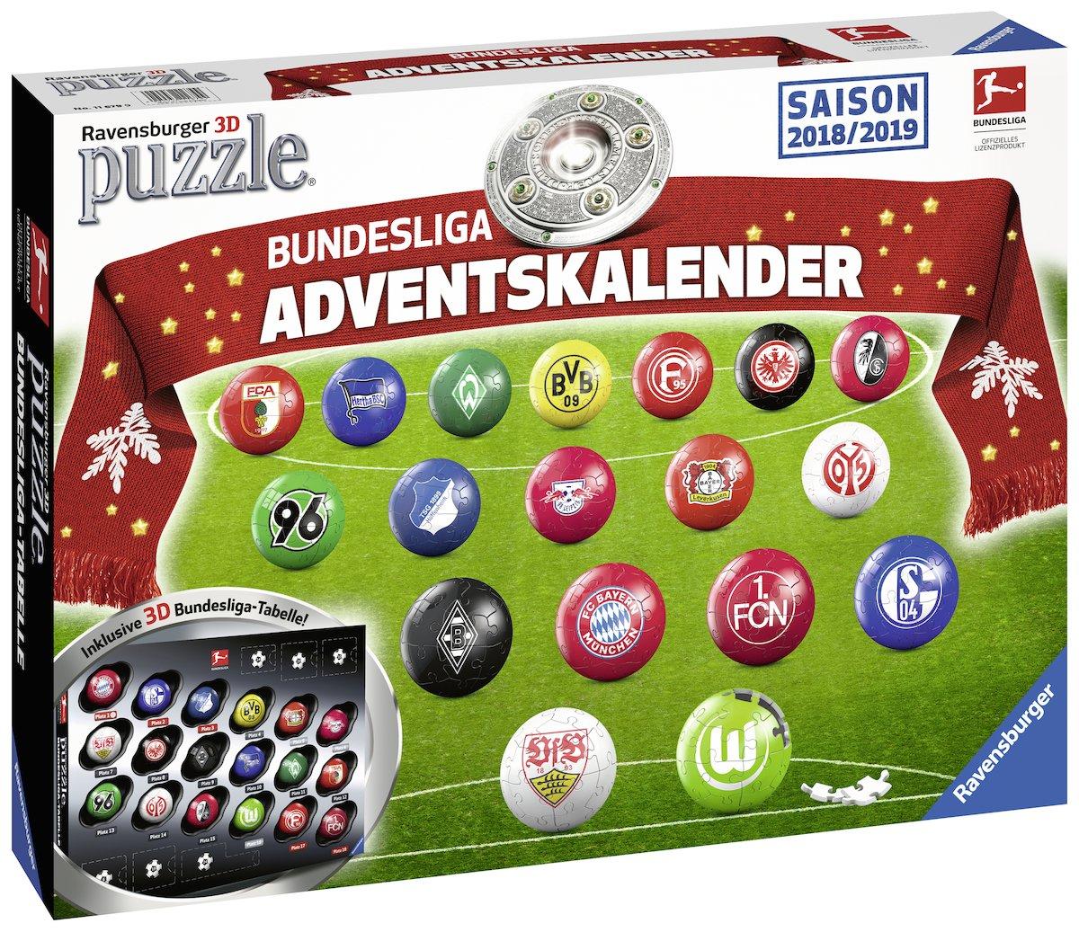 Ravensburger Erwachsenenpuzzle 11679 Adventskalender Bundesliga Ravensburger Spielverlag
