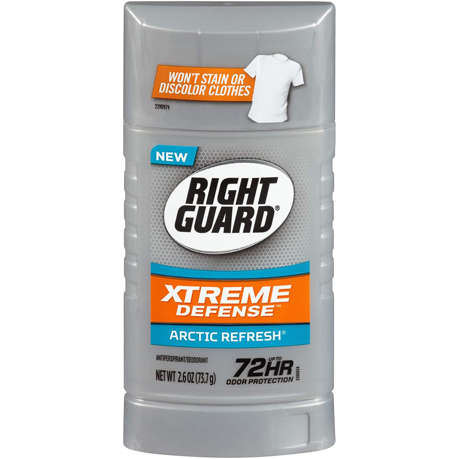 Right Guard Total Defense 5 Antiperspirant Deodorant, Arctic Refresh, 2.6 Ounce (Pack of 6)