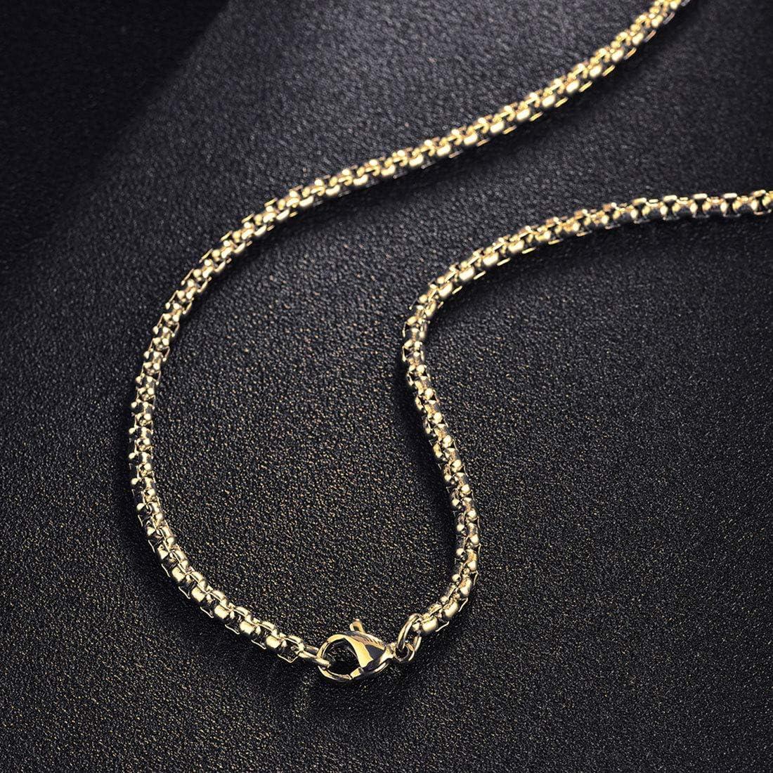 Longueur 56 cm Collier Homme Plaqu/é Or Jaune avec Pendentif Croix en Argent sterling 925 et Cha/îne Acier Inoxydable pour Hommes