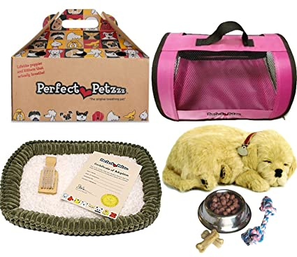 Amazoncom Perfect Petzzz Golden Retriever Plush With Pink Tote For