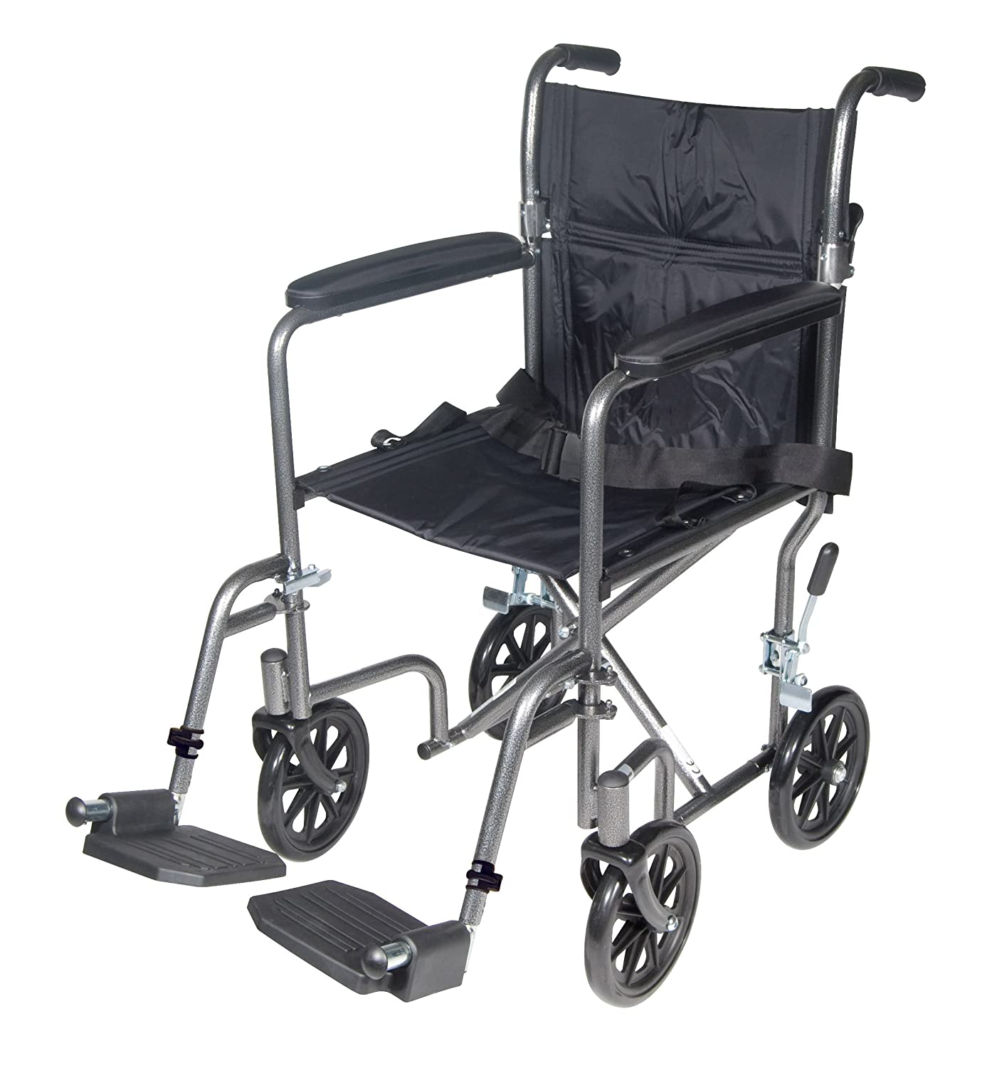 Transport chair amazon - Amazon Com Drive Medical Tr37e Sv Lightweight Steel Transport Wheelchair Fixed Full Arms 17 Inch Seat Health Personal Care