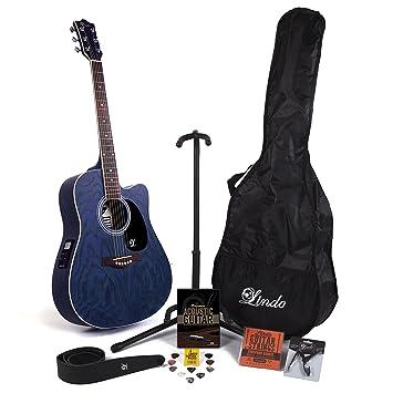 Guitarra electroacústica Willow, de la marca Lindo, con cutaway, previo,