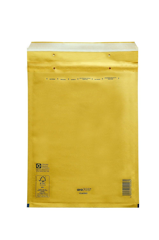 Carte Dozio - Buste imbottite avana per spedizioni - F.to interno mm 145x215-100 pz conf. Vereinigte Papierwarenfabriken Gmbh 7-JBC