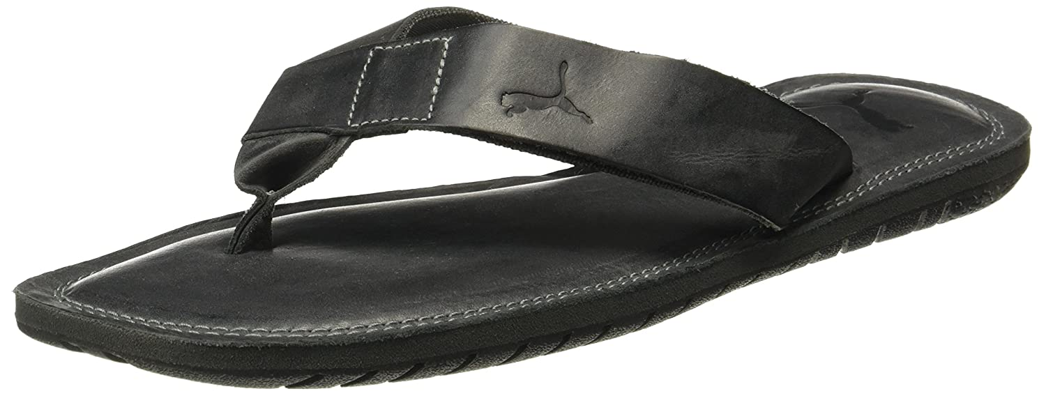 be8dec04882f Puma Men s Paramount Citronelle-Asphalt Black Leather Flip Flops Thong  Sandals-10 UK India (44.5 EU) (19042804)  Buy Online at Low Prices in India  - Amazon. ...