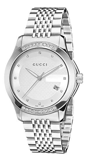 70b69128c9d Gucci G Timeless Silver Dial Diamond Mens Watch YA126407  Watch  Gucci   Gucci  Amazon.ca  Watches