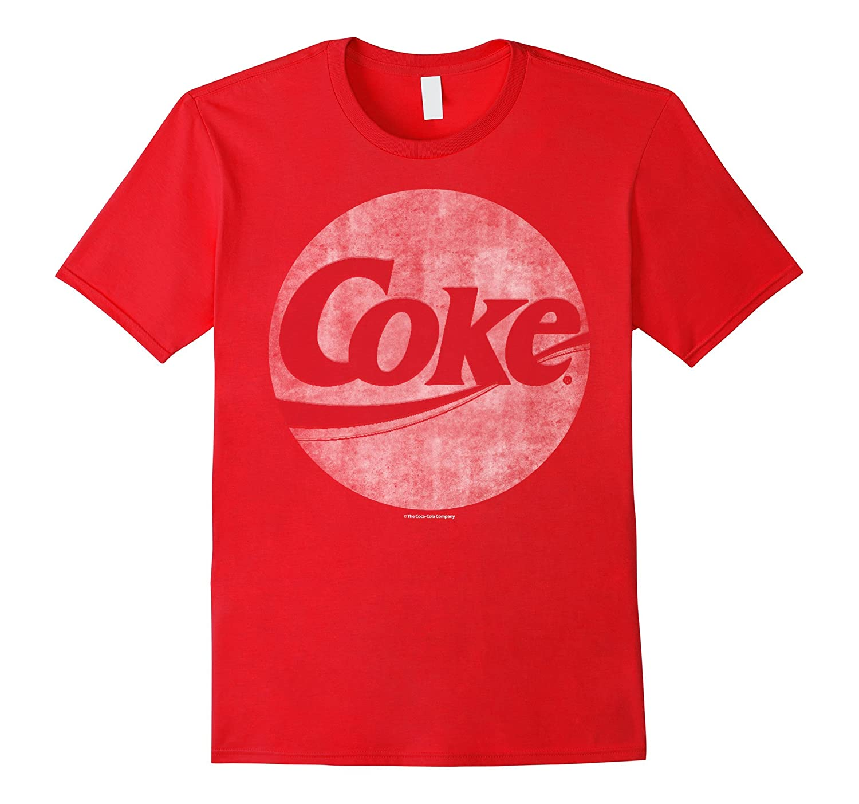 Coca-Cola Vintage Faded Coke Circle Logo Graphic T-Shirt-T-Shirt
